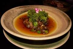 Chef Sa's spicy mushroom soup.