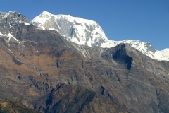 Drifting past Annapurna III, Pokhara, Nepal