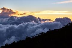 Sunset at Laban Rata, 3,200 metres above seal level.