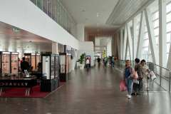 The Skybridge links the piers, the duty free shop and the food court are at the far end.