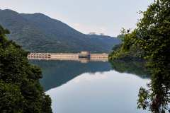 The huge Tai Tam Tuk Resrvoir and dam.