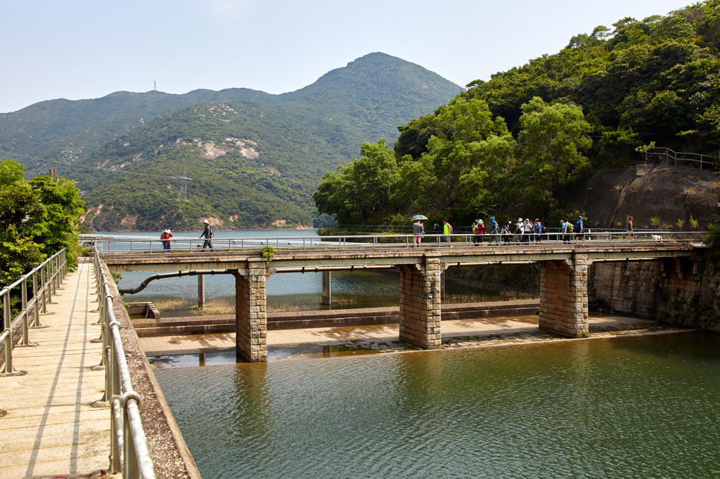 The Tai Tam West Catchwater aqueduct