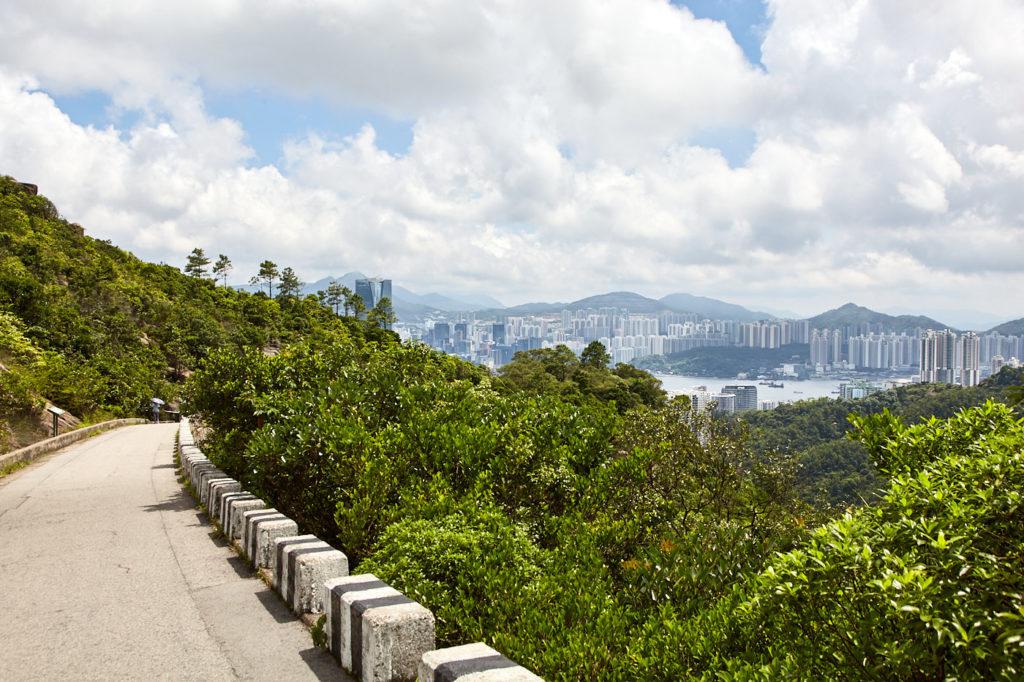 Climbing Mt Parker Road, Hong Kong