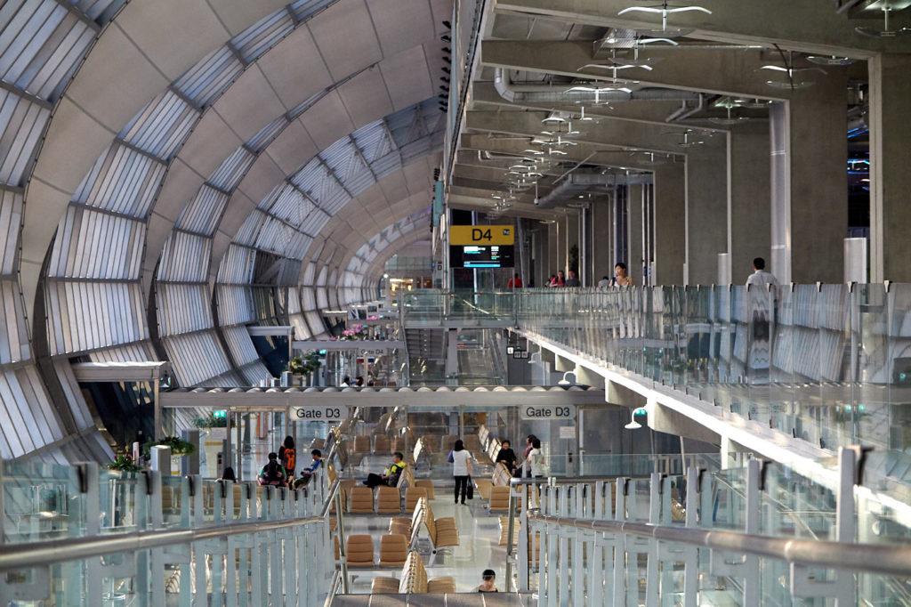 Suvarnabhumi Airport Bangkok Gates D 1-4 concourse