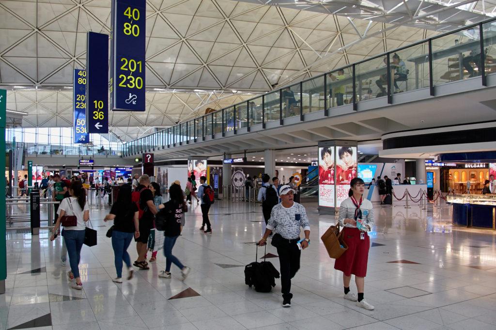 Chek Lap Kok Airport, Hong Kong concourse