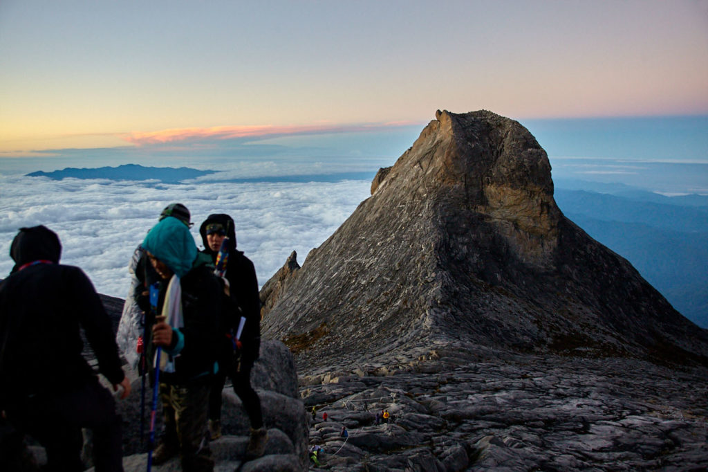 Climbing Mt Kinabalu at the summit