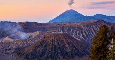 Sunrise over Gunung Bromo and the Tengger Highlands