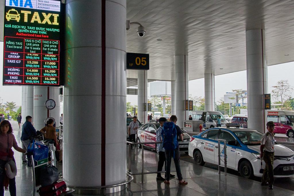 Taxis at Noi Bai International Airpor