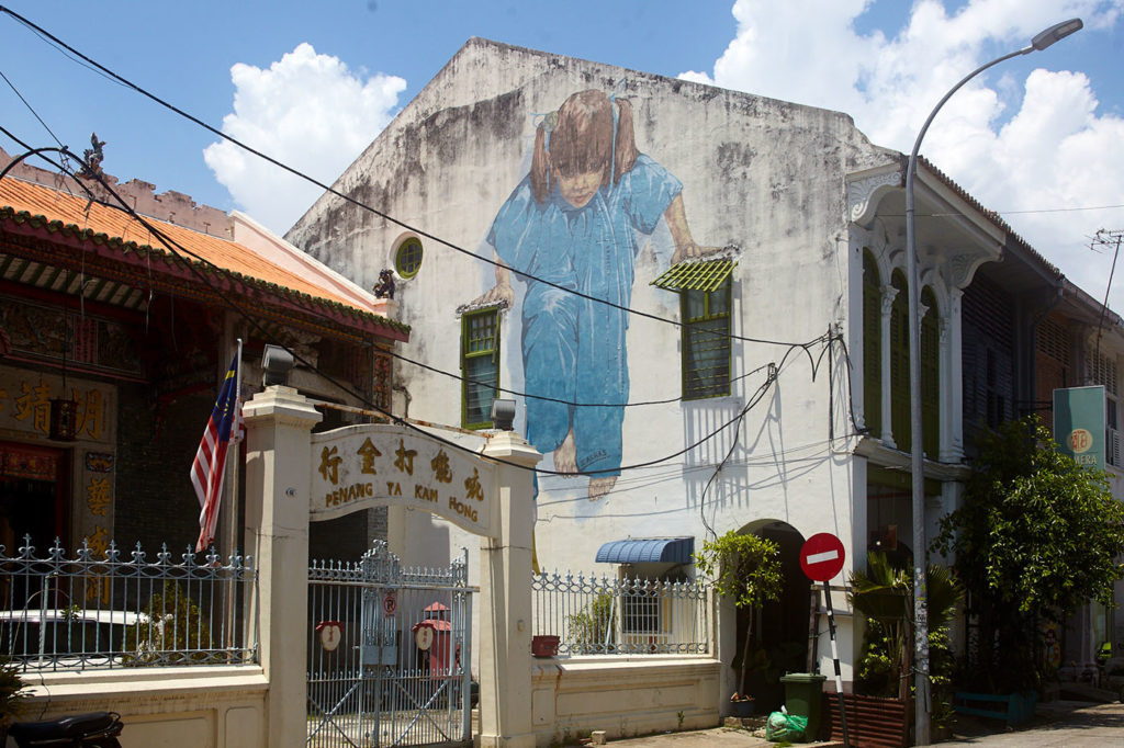 Art walking in Penang