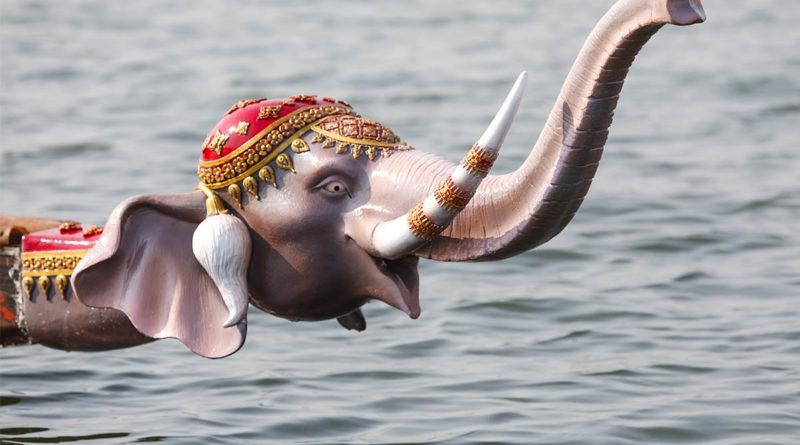 Elephant boats on the Chao Phraya
