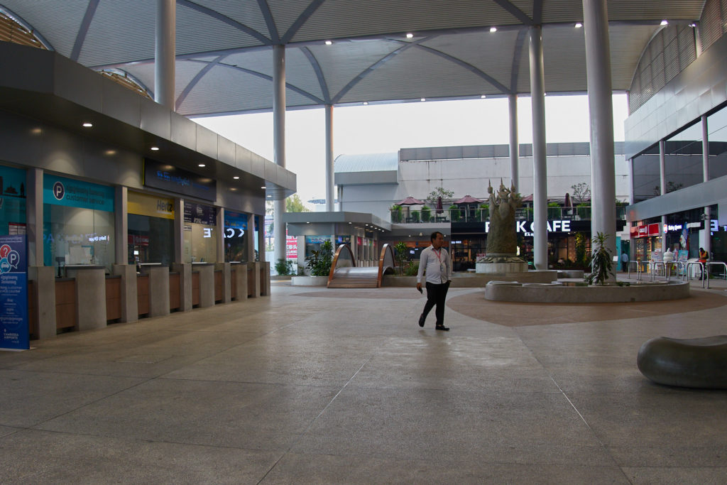 The arrivals area