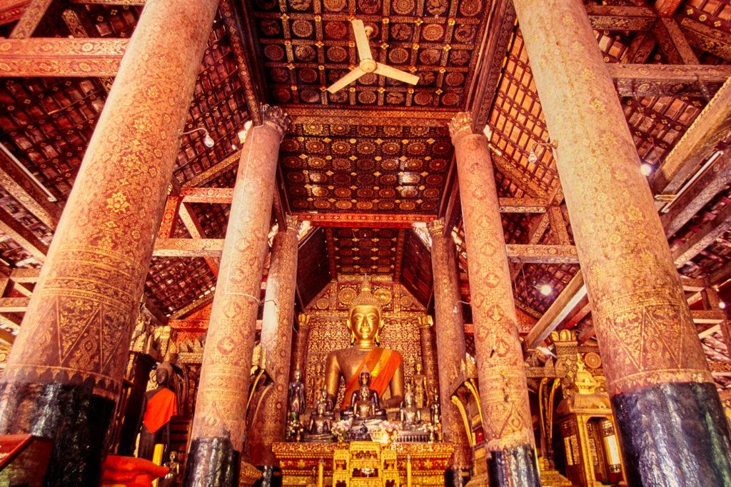 Wat Xieng Thong interior in Luang Prabang