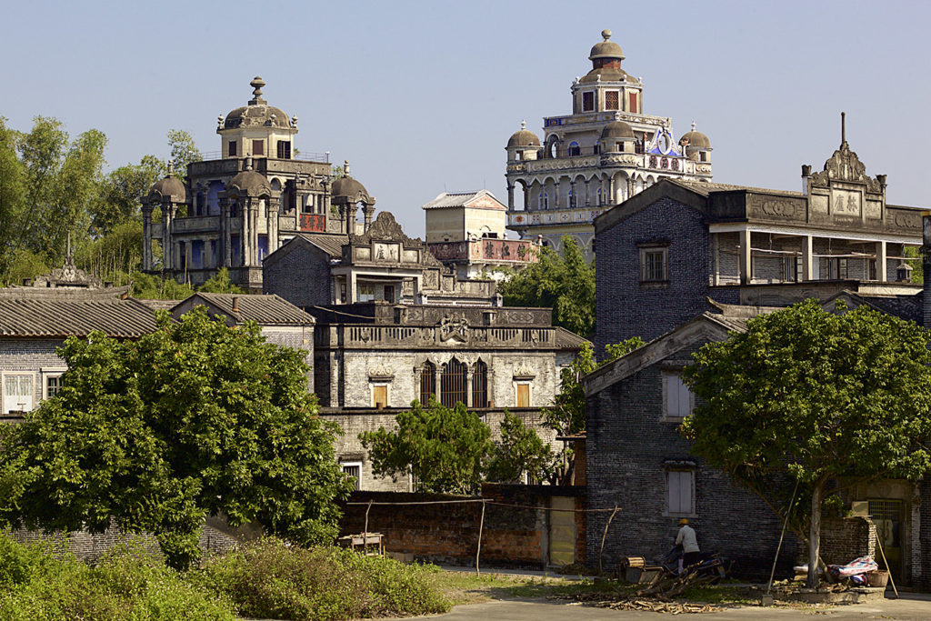 Jinjiangli village, Kaiping, China. All along the watchtowers