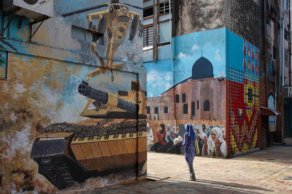 Street art at Kota Bahru. The Jungle Line