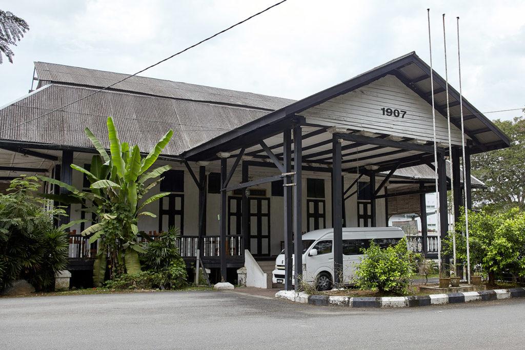 The Pahang Club building, Kuala Lipis. A train ride into malaysia's interior.