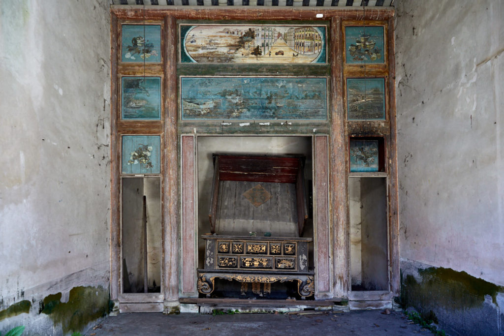 Ancestral altar at Pun Uk An abandoned Hakka mansion