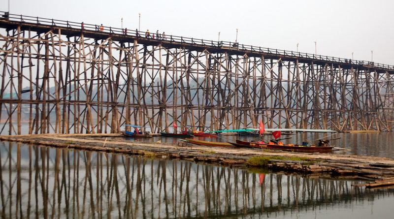 Uttamanusorn bridge, Sangkhlaburi, Thailand